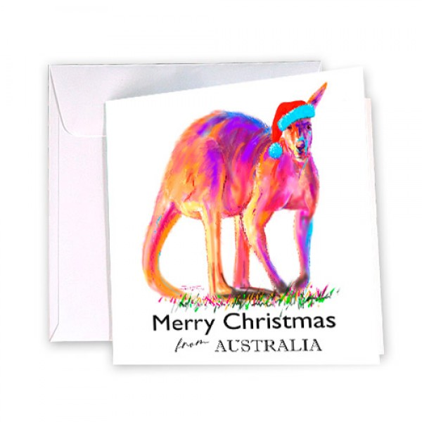 Kangaroo Santa - Merry Christmas from Australia